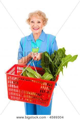 Senior Lady Grocery Shopping