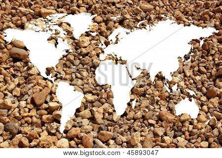 World Map White Background