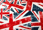 Colourful British Union jack flag montage background poster