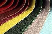 Color palette sample picker of leather material. poster