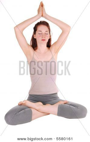 Young Woman Doing Yoga.