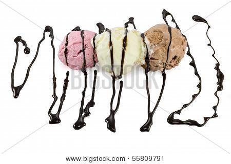 Icecream With Chocolate