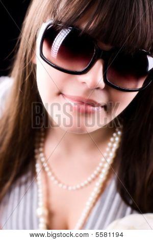 Woman In Sunglasses Glamour Portrait