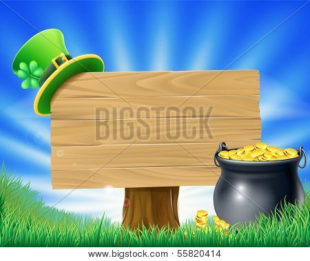 Saint Patricks Day Leprechaun Sign