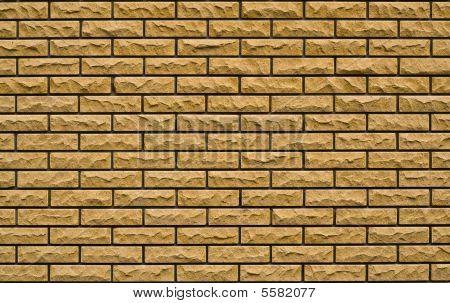 Even Yellow, Rough Brick Wall