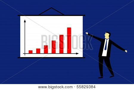 Businessman Presenting Success