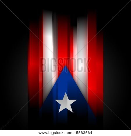 Abstract Puerto Rico Flag On Black Background