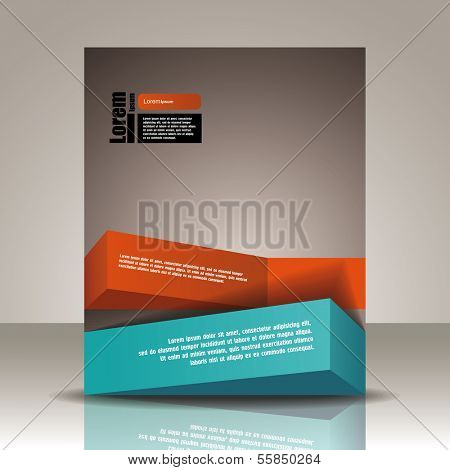 Vector  brochure, flyer, magazine cover & poster template
