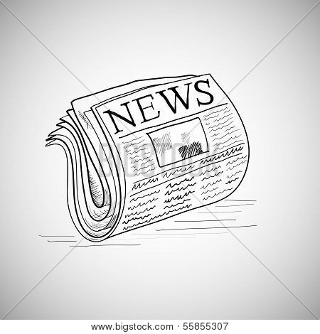 Doodle style newspaper illustration in vector format.