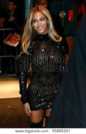 NEW YORK-DEC 21: Entertainer Beyonce attends a release party and screening for her new self-titled album 'Beyonce' at the School of Visual Arts Theater on December 21, 2013 in New York City.