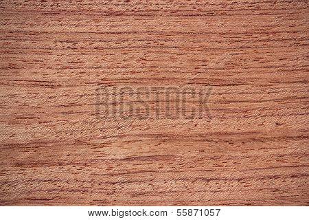 Bubinga Wood Surface - Horizontal Lines