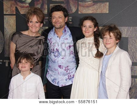 LOS ANGELES - JUL 28:  ANDY SERKIS & FAMILY arrives to the