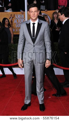 LOS ANGELES - JAN 27:  Cory Monteith arrives to the SAG Awards 2013  on January 27, 2013 in Los Angeles, CA