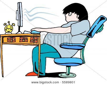 computer addict