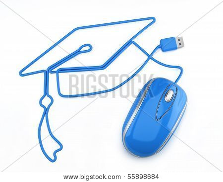 Online education, or online degree concept.