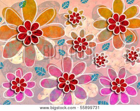 Psychedelic Flower Art Pattern