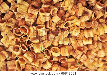 Fried Banana Roll, Made From Dehydrated Slices Of Fresh Ripe Banana, Background