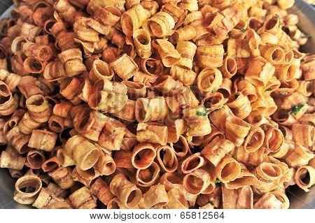 Thai Fried Roll Dry Sweet Banana Snack Food
