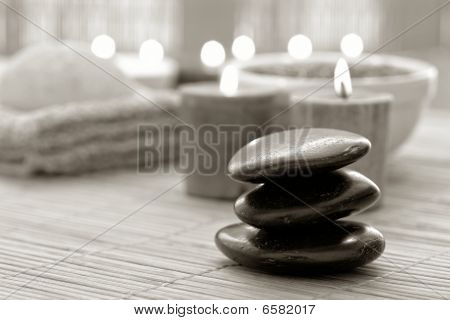 Polished Stone Cairn In A Spa