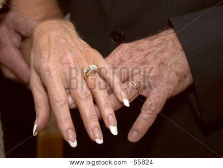 Mature Wedding Hands
