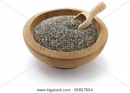 chia seeds with scoop