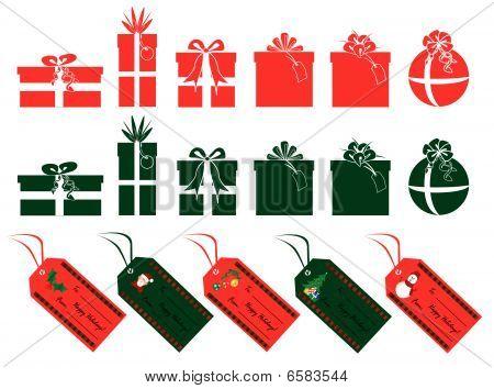 Xmas Gifts And Tags