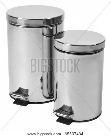 Trash can. Isolated against white background.