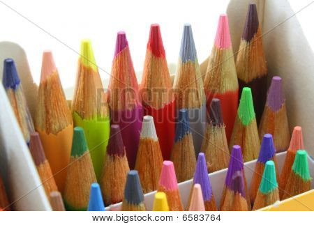 Pencil crayons pack, upright and colorful