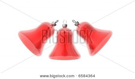 Three Red Christmas Bells
