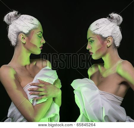 Graphic Makeup Model