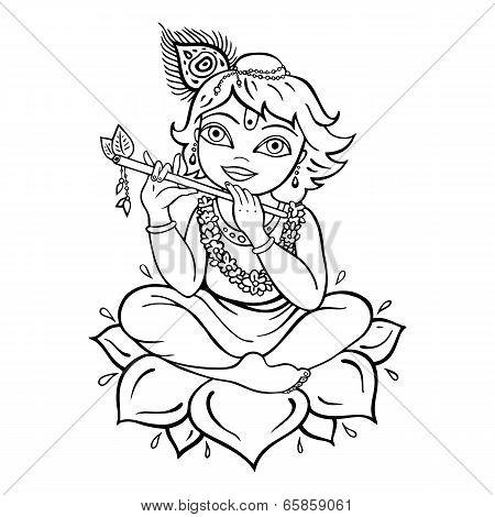 Hindu God Krishna.