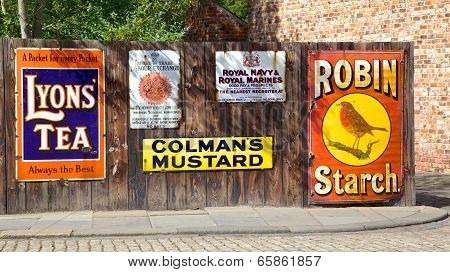 Antique Advertising Boards