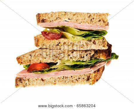 English Multigrain Bread Ham Sandwich