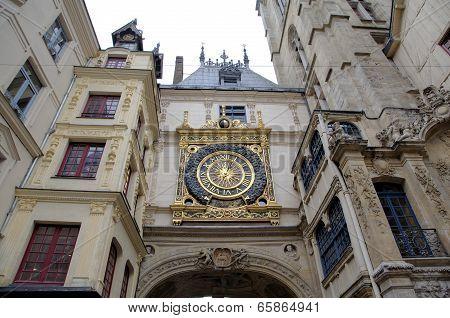 Astronomic clock at Rue du Gros-Horloge (1389). Rouen, France