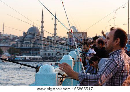 Fishermen on the Galata Bridge