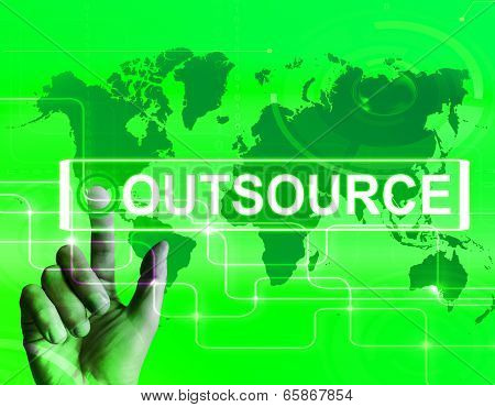 Outsource Map Displays International Subcontracting Or Outsourcing