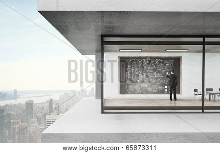Businessman Drawing Businessplan