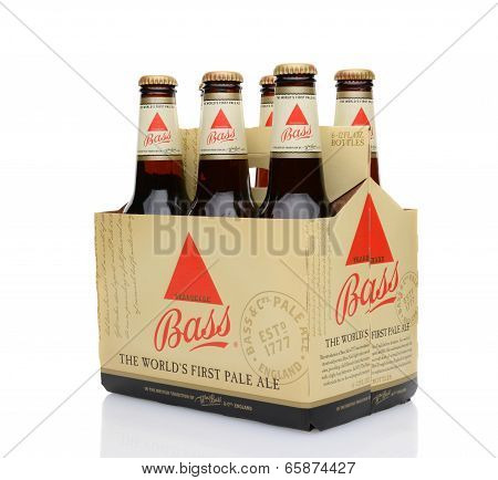 Bass Ale Six Pack 3/4 View