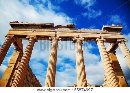 Erechtheum At Acropolis In Athens, Greece