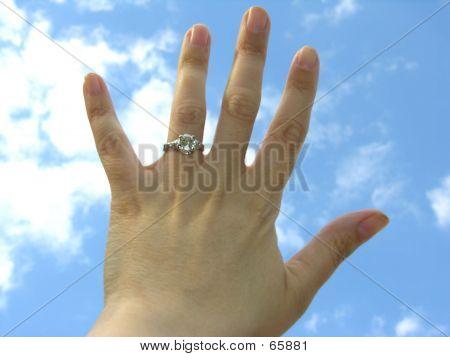 Hand Wearing Diamond Ring