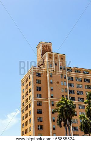 Beautiful Historic Buildings In  Miami In The Art Deco District