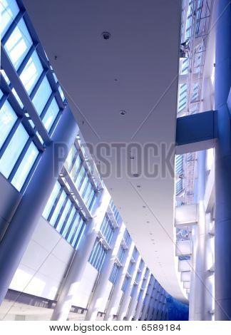Futuristic Building Interior-Vertical