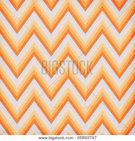 Zigzag seamless pattern in orange, blue colors poster