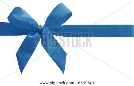 Light Blue Silk Bow