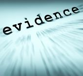 Evidence Definition Displaying Crime Scene Investigation And Police Report poster