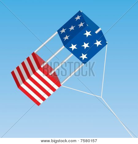 American Patriotic Box Kite