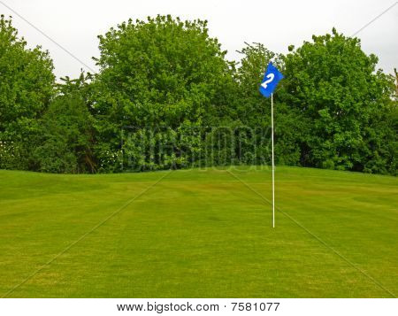 Detail of a golf course