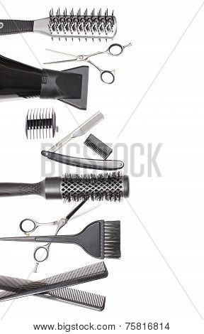 Hairdresser Accessories - Stock Image