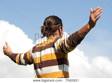 Young Man With Open Arms