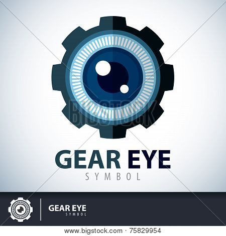 Gear Eye Symbol Icon